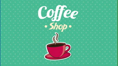 Bakery and Coffee Shop background Stock Footage