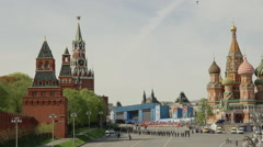 Russia , Moscow, Red Square , the Immortal regiment - stock footage