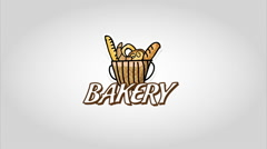 Bakery design over white background Stock Footage