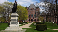 View of Queens Park in Toronto Stock Footage