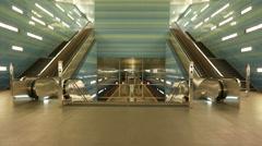 4K UHD Hamburg Hafencity Überseequartier metro subway U-Bahn station platform Stock Footage