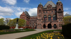 View of Queens Park in Toronto on a sunny day Stock Footage