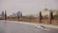 Russia, Kremlin Palace, river Moskow. Stock Footage