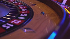 Roulette Wheel in a casino - ball on 31 black Stock Footage