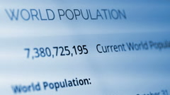 Counting world population Stock Footage