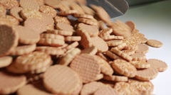 production of sweets and biscuits in the factory - stock footage