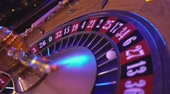 Roulette Wheel in a casino - perspective view Stock Footage