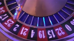 Roulette Wheel in a casino - 16 red wins - stock footage