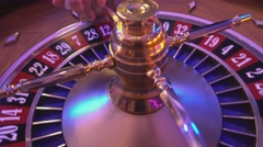 Roulette Wheel in a casino - spinning wheel Stock Footage