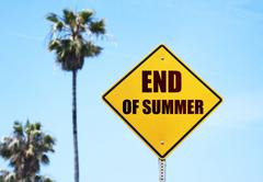 Stock Photo of Bye Bye Summer