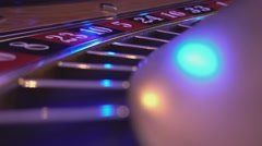 Macro view on a Roulette Wheel in a casino - spinning wheel Stock Footage