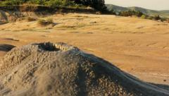 Mud volcano - Dolly shot Stock Footage