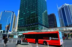 Auckland CityLink bus in Auckland New Zealand - stock photo
