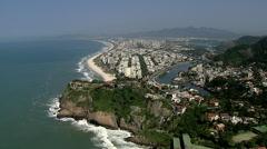 Flying above Barra da Tijuca, Rio de Janeiro Stock Footage