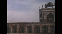 Vintage 16mm film, 1970, India, Delhi, Qutb Minar and Humayun tomb Stock Footage