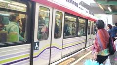 Hong Kong Skytrain, in Tuen Mun Stock Footage
