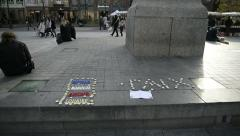 Peace paix for Paris,  France Stock Footage