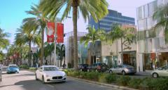 4K, RAW, Luxury Cars on Rodeo Drive, Beverly Hills, Los Angeles Stock Footage