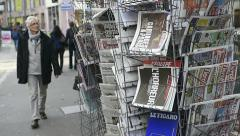 International magazines and newspapers Stock Footage
