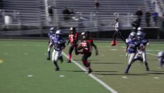 2714 - youth football, PeeWee, Pop Warner, run hard up the middle - stock footage