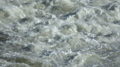 Flood Waters flowing with speed Stock Footage