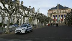Paris Attack Place opera Strasbourg Stock Footage