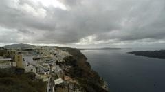 Greece Island Santorini in autum - stock footage