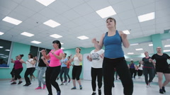 Young girls involved in fitness in the gym. Stock Footage
