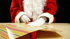 Santa Claus paper gift timelapse Stock Footage