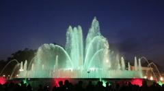 Fountain Montjuic show Stock Footage