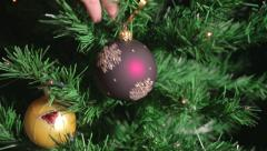 Decoration of the Christmas tree Stock Footage