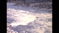 Vintage 16mm film, 1970, India, Himalayas, small Indian village at the foot Stock Footage