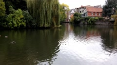 The pond in City Detmold Stock Footage