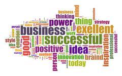 Successful business illustration concept - stock illustration