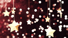 Red and Golden New Year Loopable Background Stock Footage