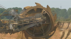 4K UHD Tagebau Open-Cast Mining Surface Mine Bucket wheel Stock Footage