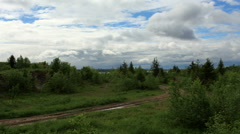Clouds over the Cape Strelka, Gorodishche Village, Dobrianskiy district,  Stock Footage