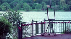 Frame monument River Forest Stock Footage