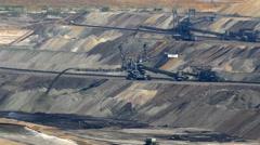 4K UHD Tagebau Open-Cast Mining Surface Mine Bucket wheel Stock Footage