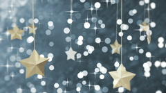 Blue New Year Loopable Background Stock Footage
