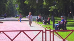Alley park city summer Stock Footage