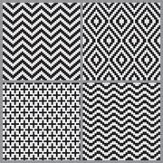 Abstract geometric tiling seamless pattern background Stock Illustration
