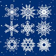 Snowflake Set. Christmas and new year concept Stock Illustration