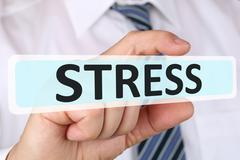 Businessman business concept with stress stressed burnout at work Kuvituskuvat
