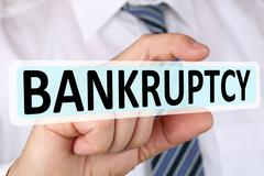 Businessman business concept with bankruptcy depts crisis bankrupt financial Stock Photos