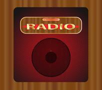 Old Transistor Radio. Stock Illustration