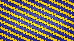 Yellow Blue Arrows Lines Zigzag Animation Seamless Looped Texture - stock footage