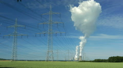 4K UHD Ecology pollution environment: Smoke n Steam discharged from coal power Stock Footage
