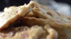 Very tasty pasties rotate - stock footage