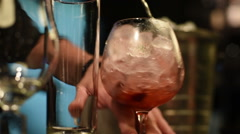 Making cocktail in bar - stock footage